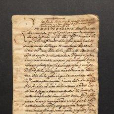 Manuscritos antiguos - 1569 - Munebrega - Documento relacionado con la parroquia de Santa Maria - - 125997035
