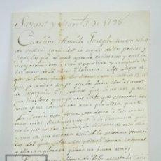 Manuscritos antiguos: ANTIGUA CARTA MANUSCRITA DESTINATARIO EN PERAFORT, TARRAGONA - AÑO 1798. Lote 126023595