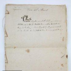 Manuscritos antiguos: ANTIGUO DOCUMENTO MANUSCRITO - VENTA DE TIERRAS, CIUDAD DE REUS - TERRA DEL MASET - AÑO 1869. Lote 126029651