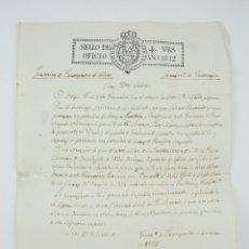 Manuscritos antiguos: ANTIGUO DOCUMENTO MANUSCRITO - FRANQUESES DEL CODONY, TARRAGONA - SOLICITUD DE UN REGIDOR - AÑO 1832. Lote 126030427