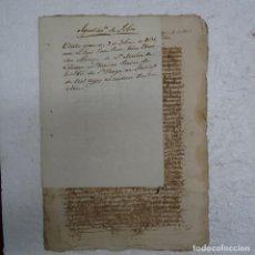 Manuscritos antiguos: MANUSCRITO GALICIA S. XVI (1594) AYUNTAMIENTO DE SOBER ( LUGO) ESCRITURA DE VENTA DE 3 TEJAS ....... Lote 126349751