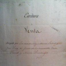 Manuscritos antiguos: ESCRITURA DE VENTA - REUS 1892 .. Lote 126618735