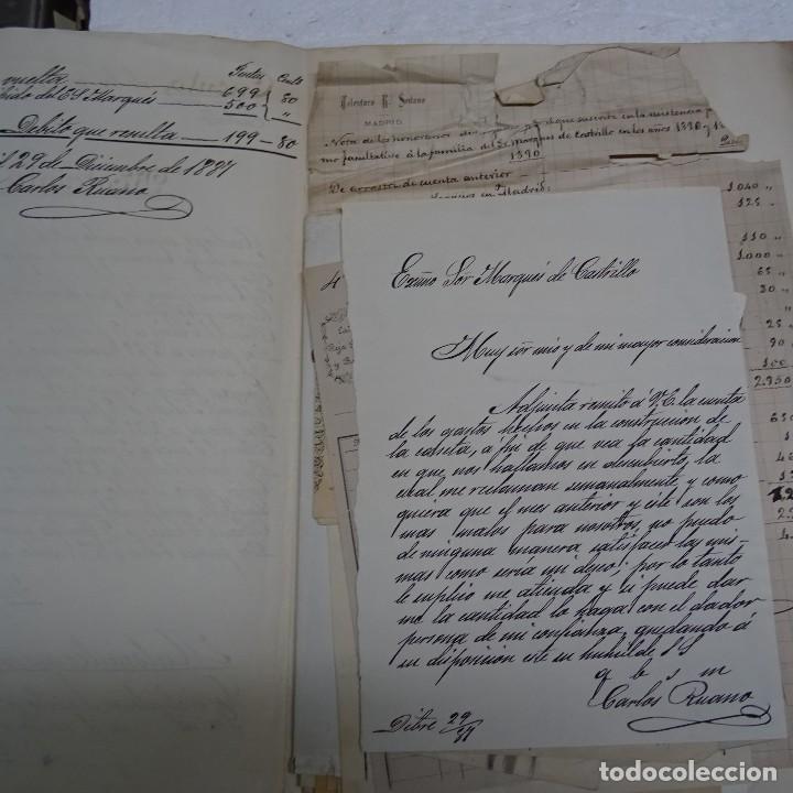 Manuscritos antiguos: MANUSCRITO GASTOS CONSTRUCCION CASETA MARQUES DE CASTRILLO CALLE FERNANDO EL SANTO MADRID - Foto 2 - 126644975