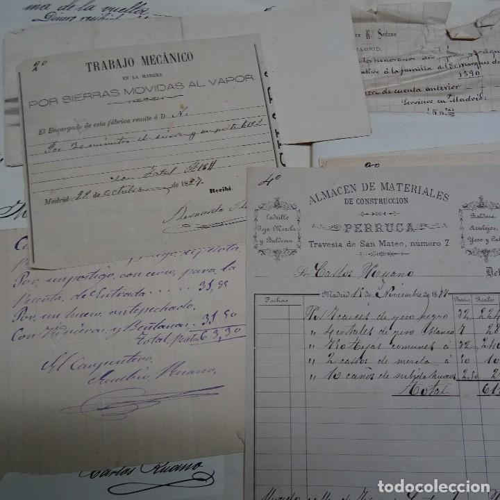 Manuscritos antiguos: MANUSCRITO GASTOS CONSTRUCCION CASETA MARQUES DE CASTRILLO CALLE FERNANDO EL SANTO MADRID - Foto 3 - 126644975