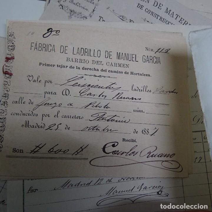 Manuscritos antiguos: MANUSCRITO GASTOS CONSTRUCCION CASETA MARQUES DE CASTRILLO CALLE FERNANDO EL SANTO MADRID - Foto 4 - 126644975
