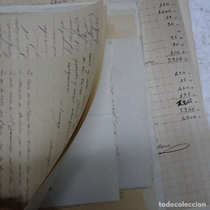 Manuscritos antiguos: MANUSCRITO GASTOS CONSTRUCCION CASETA MARQUES DE CASTRILLO CALLE FERNANDO EL SANTO MADRID - Foto 7 - 126644975