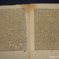 Manuscrits anciens: ANGÜES, HUESCA. 1702. INFANZONÍA APELLIDO CLAVER. IMPRESO. Lote 126890011