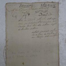 Manuscritos antiguos: MANUSCRITO S. XVI (1576) CORDOBA, AUTO DE COLACION PARROQUIA SAN JUAN DE LOS CABALLEROS.. Lote 126938995