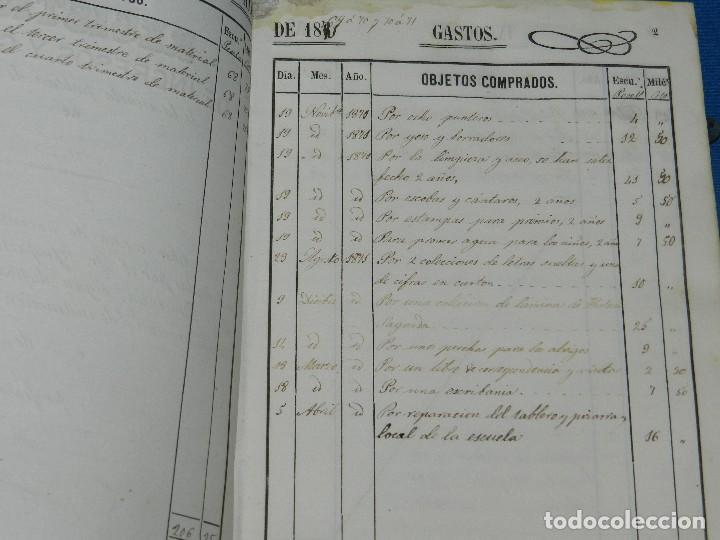 Manuscritos antiguos: (BF) ALCOVER ( TARRAGONA ) - LIBRO REGISTRO DE INGRESOS Y GASTOS DE LA ESCUELA PUBLICA 186?? - Foto 3 - 126976355