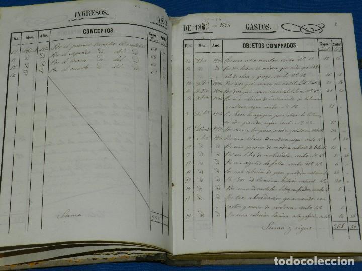 Manuscritos antiguos: (BF) ALCOVER ( TARRAGONA ) - LIBRO REGISTRO DE INGRESOS Y GASTOS DE LA ESCUELA PUBLICA 186?? - Foto 4 - 126976355