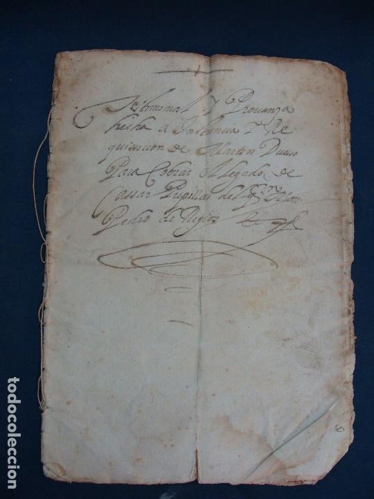 Manuscritos antiguos: AYERBE (HUESCA). 1744. DOTE POR CASAR HIJAS. - Foto 2 - 126981287