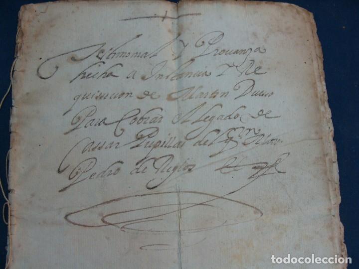 Manuscritos antiguos: AYERBE (HUESCA). 1744. DOTE POR CASAR HIJAS. - Foto 3 - 126981287