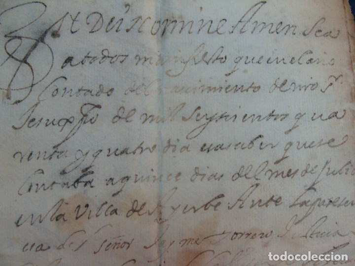 Manuscritos antiguos: AYERBE (HUESCA). 1744. DOTE POR CASAR HIJAS. - Foto 4 - 126981287