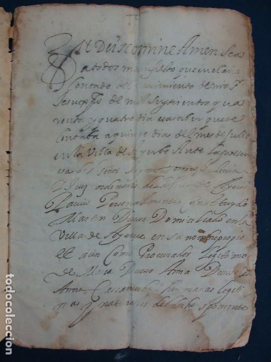 Manuscritos antiguos: AYERBE (HUESCA). 1744. DOTE POR CASAR HIJAS. - Foto 5 - 126981287