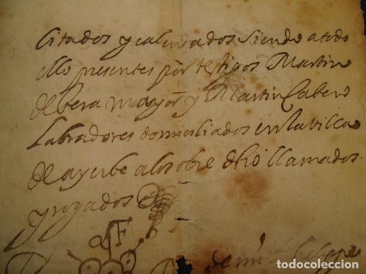 Manuscritos antiguos: AYERBE (HUESCA). 1744. DOTE POR CASAR HIJAS. - Foto 11 - 126981287