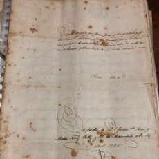 Manuscritos antiguos: CAPITULACION MATRIMONIAL MANRESA AÑO 1855. Lote 127138347