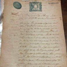 Manuscritos antiguos: DOCUMENTO JUZGADOS MUNICIPAL DE BARCELONA AÑO 1895. Lote 127142215