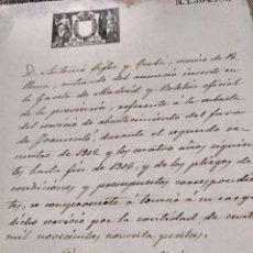 Manuscritos antiguos: DOCUMENTO 1902 SUBASTA ABASTECIMIENTO FAR FARO DE FORMENTOR POLLENSA POLLENÇA MALLORCA. Lote 127642834