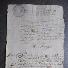 Manuscritos antiguos: BONITO MANUSCRITO GRANADA 1721. BONITA LETRA Y FIRMAS.. Lote 127678987