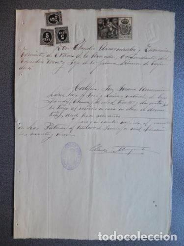 BONITO MANUSCRITO MILITAR TORPEDERO AZOR. 1899. (Coleccionismo - Documentos - Manuscritos)