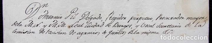 Manuscritos antiguos: REGIDOR PERPETUO. BURGOS. AÑO: 1883. SOLDADO REGIMIENTO CABALLERÍA DEL PRÍNCIPE TERCERO DE LINEA - Foto 2 - 128030351