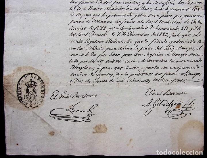 Manuscritos antiguos: REGIDOR PERPETUO. BURGOS. AÑO: 1883. SOLDADO REGIMIENTO CABALLERÍA DEL PRÍNCIPE TERCERO DE LINEA - Foto 4 - 128030351