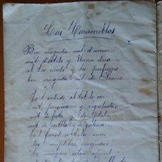 Manuscritos antiguos: MANUSCRITO CATALÁN: LA PUNTAIRA / LES CARAMELLES. Lote 128032503