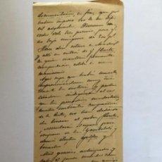 Manuscritos antiguos: CARTA MANUSCRITA AÑO 1901 JOSE RODAO CANTALEJO SEGOVIA. Lote 128168519