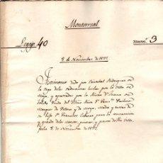 Manuscritos antiguos: TESTIMONIO DE LAS ORDENANZAS PARA LA CONSERVACION DE MONTES, PINARES, PASTOS. MOYA, CUENCA, 1577. Lote 128240787