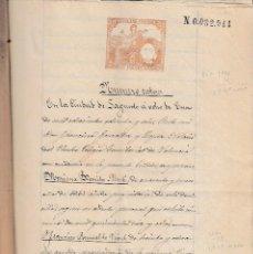 Manuscritos antiguos: 1886 - 96 SAGUNTO (VALENCIA) ESCRITURAS CONJUNTO DOCUMENTOS MANUSCRITOS PAPEL FISCAL . Lote 128485007