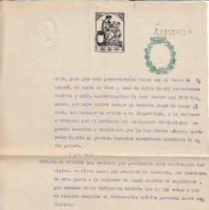 Manuscritos antiguos: SERIE 1939 - 40 PAPEL SELLADO FISCAL ADMON JUSTICIA CLASE 13ª 0,25 PS RESELLADO ESTADO ESPAÑOL. Lote 128492115