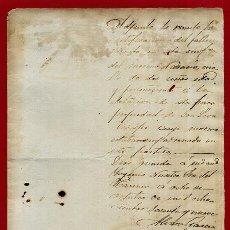 Manuscritos antigos: DOCUMENTO DE ESCLAVOS , NOTIFICACION FALLECIMIENTO DE ESCLAVO 1869 , CUBA , ORIGINAL, D8-5. Lote 128556583