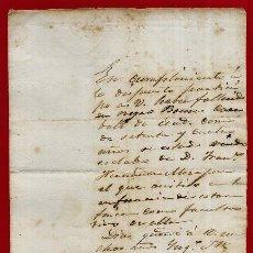 Manuscritos antigos: DOCUMENTO DE ESCLAVOS , NOTIFICACION FALLECIMIENTO DE ESCLAVO 1869 , CUBA , ORIGINAL, D8-6. Lote 128556651