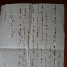 Manuscritos antiguos: CARTA MANUSCRITA PÉSAME ALCOY 1953. Lote 128557126