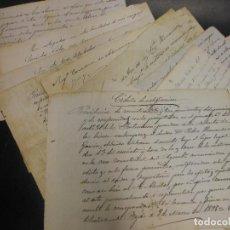 Manuscritos antiguos: 21 DOCUMENTOS CARTAS FACTURA DE SANTIBAÑEZ DE BEJAR SALAMANCA SIGLO XIX Y XX MANUSCRITO. Lote 128561147