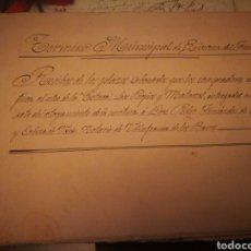 Manuscritos antiguos: LIBRILLO MANUSCRITO DE VENTA DE TIERAS A PLAZO. RIVERA DEL FRESNO. BADAJOZ. 1900. Lote 129252808