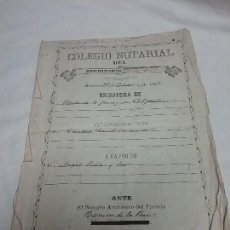 Manuscritos antiguos: ANTIGUO DOCUMENTO MANUSCRITO ESCRITURA COMPRA VENTA - PAPEL TIMBRADO - AÑO 1892 . Lote 129362415