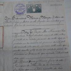Manuscritos antiguos: 1908 NOTARIO FRANCISCO MOYA Y MOYA, HERNANDEZ PINZÓN, TRIBUNAL DE LA ROTA. Lote 129707307