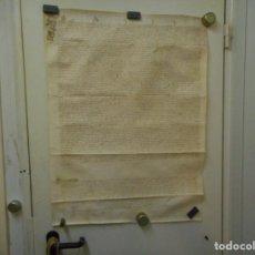 Manuscritos antiguos: IMPRESIONANTE POR MEDIDAS MANUSCRITO PERGAMINO EN PIEL VENTA AÑO PARECE 1518. Lote 130124735