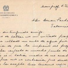 Manuscritos antiguos: 1952 ARANJUEZ. CARTA MEMBRETE REGIMIENTO DRAGONES DE PAVIA 4 CORONEL LUIS OCHOTORENA SANCHEZ FIRMA. Lote 130263916