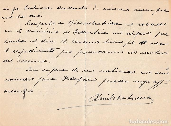 Manuscritos antiguos: 1952 ARANJUEZ. CARTA MEMBRETE REGIMIENTO DRAGONES DE PAVIA 4 CORONEL LUIS OCHOTORENA SANCHEZ FIRMA - Foto 3 - 130263916