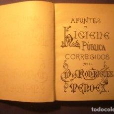 Manuscritos antiguos: (MANUSCRITO) APUNTES HIGIENE PUBLICA (RODRIGUEZ MENDEZ) APENDICE DESINFECTANTES (VILATO) (1889). Lote 130435478