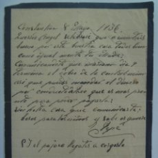 Manuscritos antiguos: GUERRA CIVIL : CARTA MANUSCRITA DE LUTO . CONSTANTINA ( SEVILLA ), 1936 . MANUSCRITA.. Lote 180282086