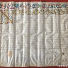 Manuscritos antiguos: DOCUMENTO DE LA INQUISICION EN PERGAMINO , GRANADA 1600 , GUADIX. Lote 130727854