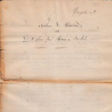 Manuscritos antiguos: 1864 CUEVAS DE VERA. SELLO SECO FISCAL OFICIO 4 MRS DOCUMENTO TIMBRADO PAPEL SELLADO. ISABEL II.. Lote 130792316