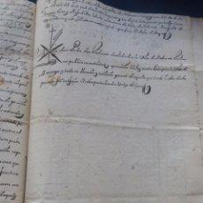 Manuscritos antiguos: MANUSCRITO 1755 ( SELLO 3º ) Y 1767 ( SELLO 4º ) JUICIO POR IMPAGO DE CENSO (TREUDO GRACIOSO) TERUEL. Lote 130999404