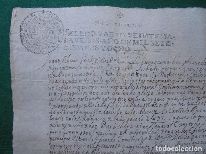 carlos iv documento en papel timbrado,sello cua - Comprar ...