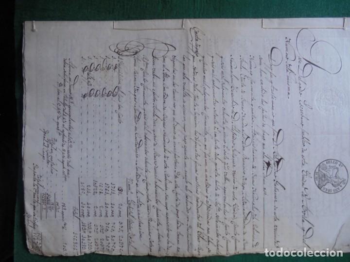 Manuscritos antiguos: COMPLETO DOCUMENTO EN PAPEL TIMBRADO,SELLO CUARTO,40 MARAVEDIS,AÑO 1848, 3 PLIEGO,FIRMADOS - Foto 2 - 149535809