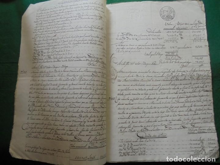 Manuscritos antiguos: COMPLETO DOCUMENTO EN PAPEL TIMBRADO,SELLO CUARTO,40 MARAVEDIS,AÑO 1848, 3 PLIEGO,FIRMADOS - Foto 3 - 149535809