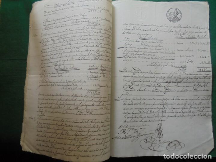 Manuscritos antiguos: COMPLETO DOCUMENTO EN PAPEL TIMBRADO,SELLO CUARTO,40 MARAVEDIS,AÑO 1848, 3 PLIEGO,FIRMADOS - Foto 4 - 149535809